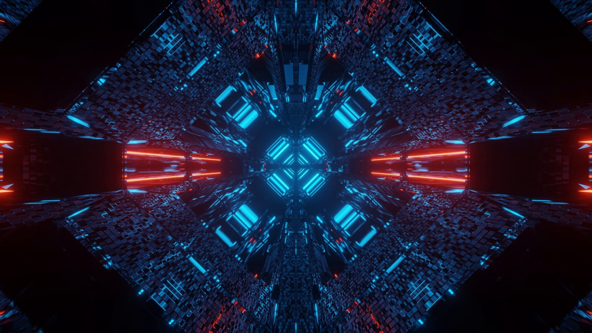 abstract science fiction futuristic background with red and blue neon lights 2 2 - INFORMÀTICA